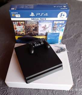 PS4 Slim 1 Tera - 3 Juegos físicos (GTA V - Days Gone - Horizon) PlayStation