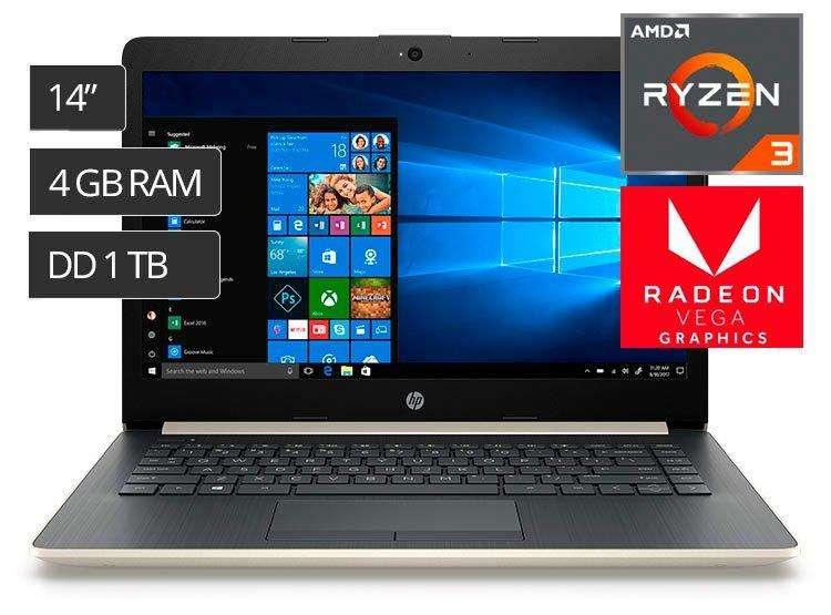 HP RYZEN 3 4GB DDR4 1TB VIDEO VEGAS 8 14 PULGADAS 0