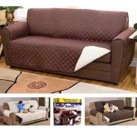 Protector Sofá Muebles Perros Y Mascotas 3puestos Doble Faz