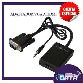 ADAPTADOR / CONVERTIDOR VGA A HDMI