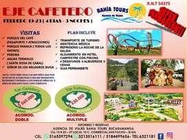 SUPER PROMO TOUR EJE CAFETERO UNICO DIA FEBRERO 19 DEL 2020