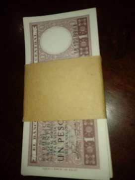 vendo lote de billetes de un peso del año 1947.