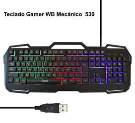 TECLADO GAMER METÁLICO WEIBO WB-539: