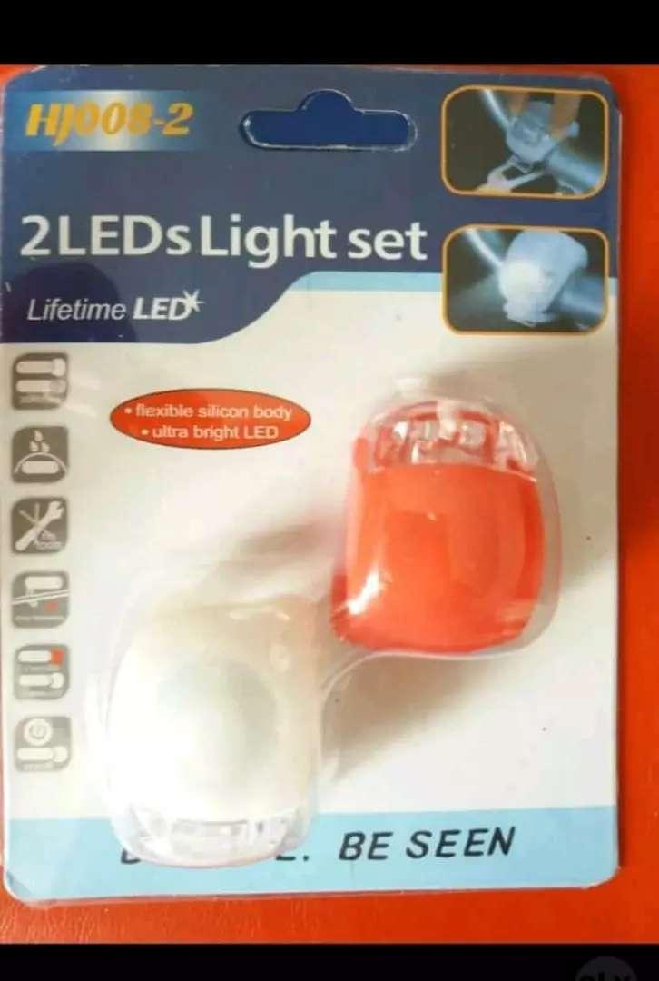 Kit de luces led + bocina para bicicleta 0