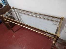 Mesa metalica u escritorio dorado (negociable)