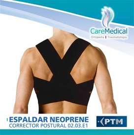 Espaldar Corrector Postural Neoprene - PTM - Ortopedia Care Medical
