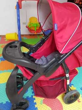 Coche de bebé más silla de auto