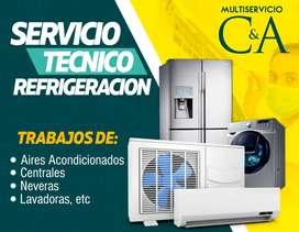 mantenimiento de nevera y aires acondicionado