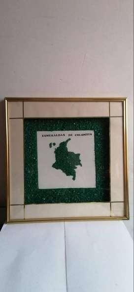 Cuadro hechos con esmeraldas