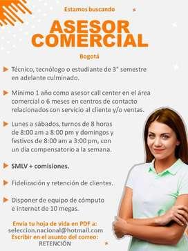 Asesor Comercial y/o Retenciones