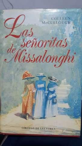Las Señoritas de Missalonghi autor Colleen Mccullough