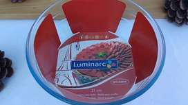 Fuente Redonda Luminca Vidrio Microondas Freezer Horno
