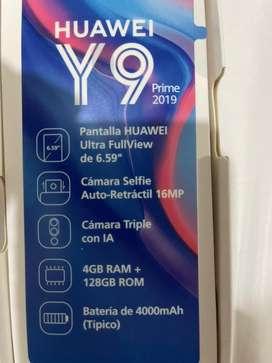 Se vende huawei Y9 prime 2019 de 128 gigas.