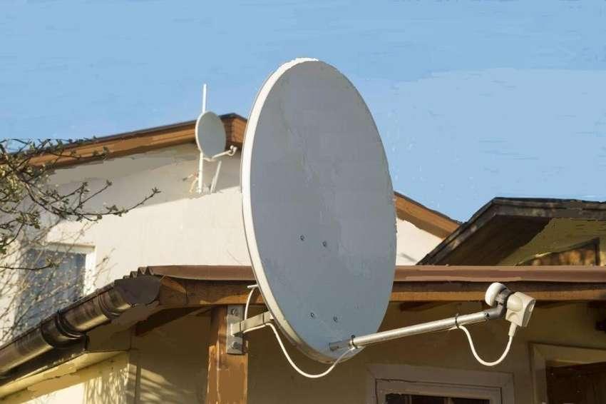 Antena satelit FTA banda KU 65 cm LNB soporte y coaxil 15 mt con conectores 0