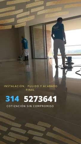 Pulido de piso en marmol y granito  brillado y Pulido De Pisos