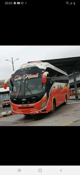 Cedo Acciones y Derechos con bus incluido de cooperativa de transporte la mana.
