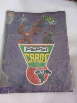 Álbum Pepsicards lleno completo las básicas