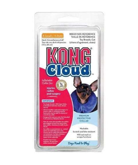 Venta de collar isabelino inflable talla xs talla mini original de marca kong cloud