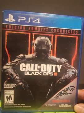 Call of duty black OPS 3 edición zombies chronicles de segunda y call of duty advanced Warfare nuevo