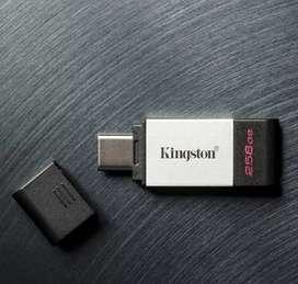 USB KINGSTON 32GB CON OTG TIPO C DATA TRAVELER 80