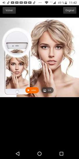 Mini aro led selfi para celular