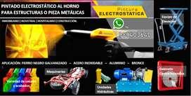 PINTADO PINTURA ELECTROSTÁTICA AL HORNO VARIOS METALES