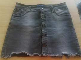 Pollera de jeans t40
