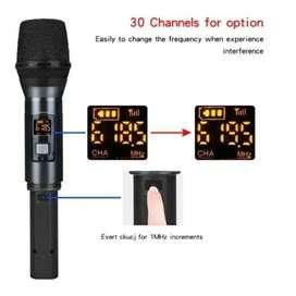 Micrófono Inalámbrico Uhf Simple Karaoke Microfono Mano Eyk