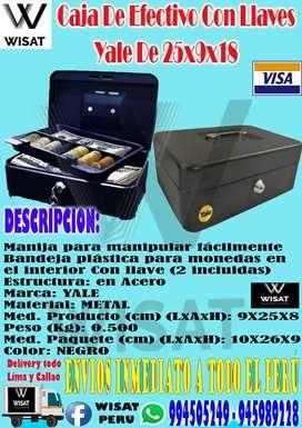 Caja De Efectivo Con Llaves Yale De 25x9x18
