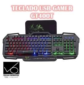 TECLADO USB GAMER GT400T