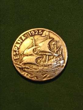 #Moneda España 25 centavos 1925