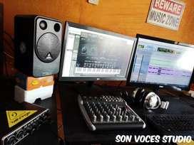 Servicio de MEZCLA Y MASTERING - SON VOCES STUDIO