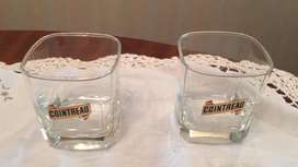 "2 Vasos de Vidrio "" Cointreau"""