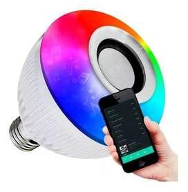 Lampara Led Rgb 220v Parlante Bluetooth Colores Foco