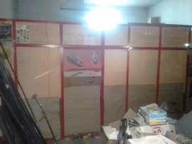 Mampara aluminio y vidrio 2 paños OPORTUNIDAD