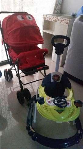 Venta combo coche y caminador para bebè.