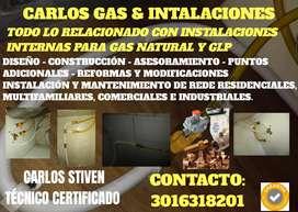 Instalaciónes para gas natural certificadas