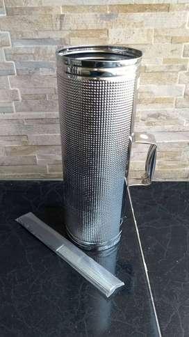 Guira metálica cobra P. Merenguera Grande con trincho nueva