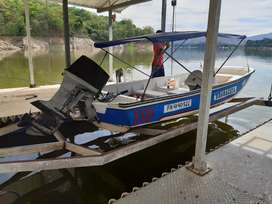 Vendo bote con motor cuatro bancas
