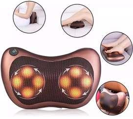 Cojin Masajeador vibrador de para espalda cuello lumbar abdomen piernas pies infrarojo esferas masajes casa carro