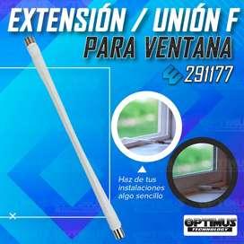 Cable de Extensión / Unión para pasar a través de la ventana Conector F-Hembra Wilson 291177 - Instalaciones