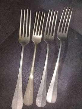 Lote de cucharas alpaca