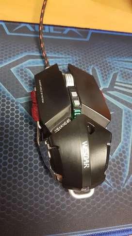 Mouse gaming wesdar x9 4000 dpi ergonómico