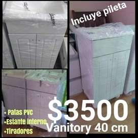 Vanitory 40 cm wengue oferta