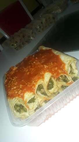 Canelones, empanadas y tarta