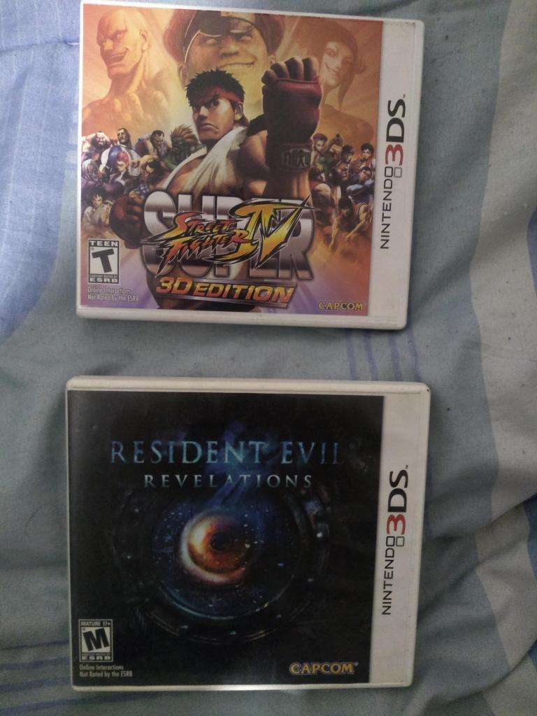 Resident Evil y Street Fighter 3DS 0