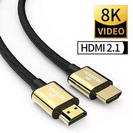 CABLE HDMI MOSHOU 2,1 8K 60Hz 4K 120Hz 48Gbps HDR, Cable de vídeo para amplificador TV PS4 PS5 RTX3080. + (REGALO)
