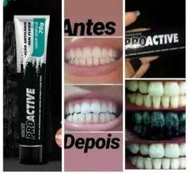 Crema Dental De Carbón Activado Sin Flúor - ENVÍO GRATIS