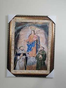 Virgen de las lajas al oleo