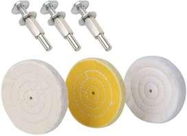 Rueda de pulido de 4 pulg pule acrílico, plástico, madera, aleación, latón joyas relojes equipos. hierro taladro dremel